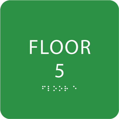 Green Floor 5 Level Identification Sign
