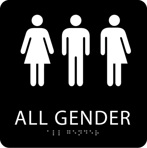 Black All Gender Restroom Sign