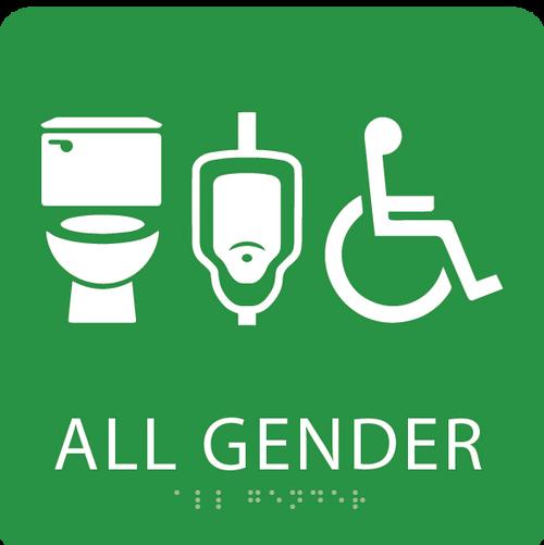 All Gender Neutral ADA Restroom Sign