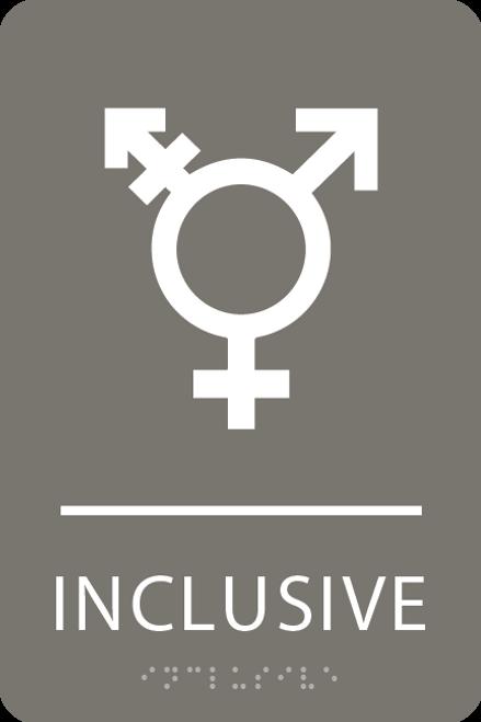 Dark Grey Inclusive Gender Neutral Bathroom Sign