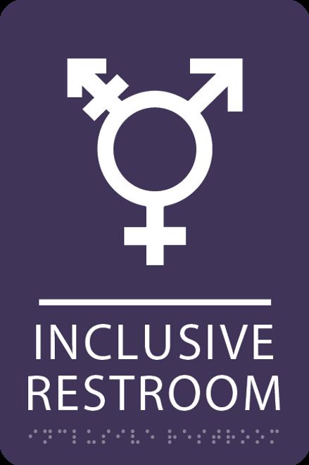 Violet Inclusive Restroom ADA Sign