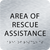 Aluminum Area of Rescue Assistance ADA Sign