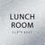 Aluminum Lunch Room ADA Sign