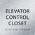 Aluminum Elevator Control Closet ADA Sign