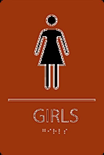 Girls ADA Restroom Sign