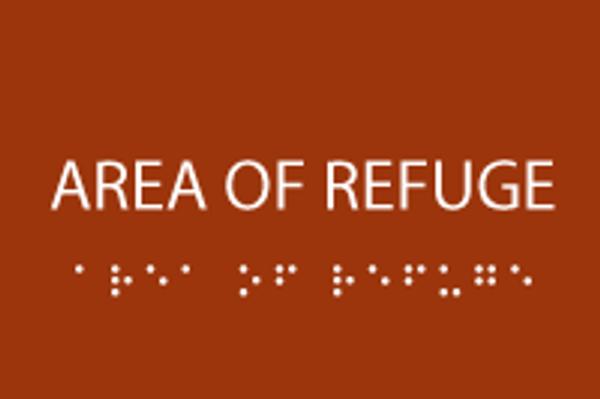 Area of Refuge ADA Sign