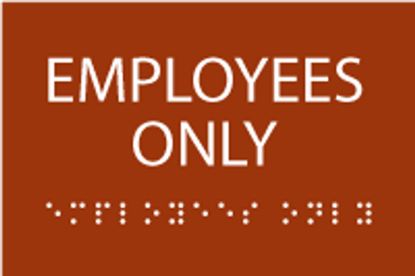 ADA Employees Only Sign