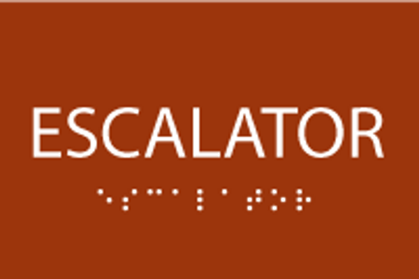 ADA Escalator Sign