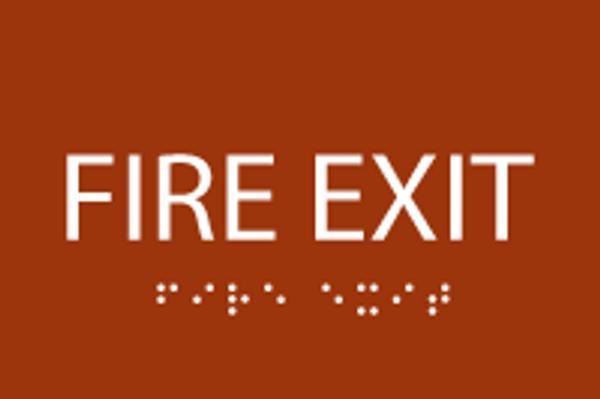 ADA Fire Exit Sign