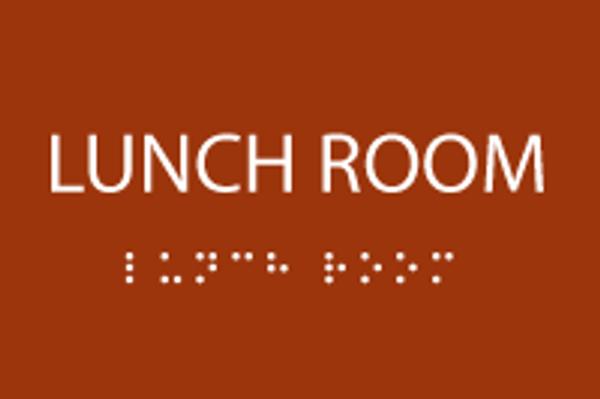 ADA Lunch Room Sign