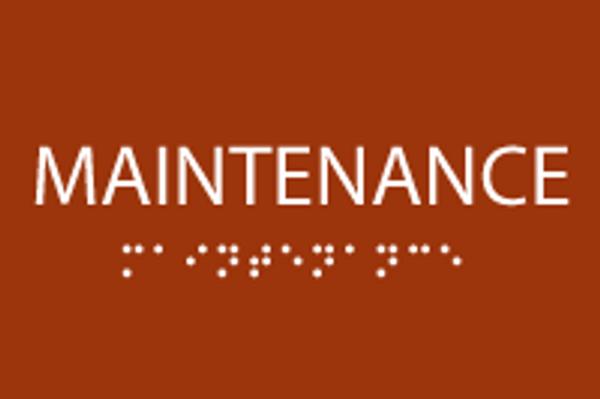 ADA Maintenance Sign