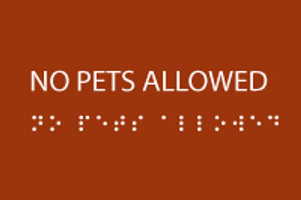 No Pets Allowed ADA Sign