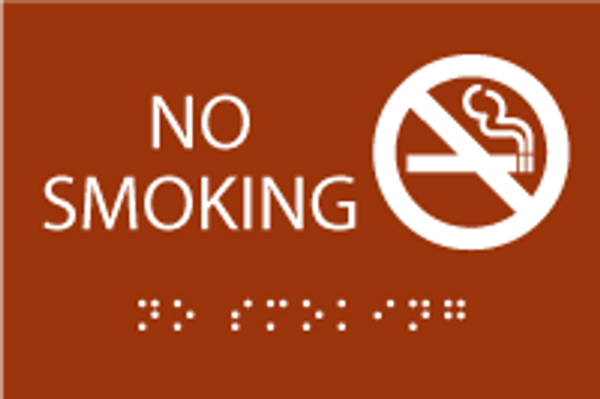"No Smoking Sign - 6"" x 4"""