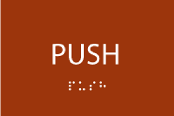 Push ADA Sign with Braille