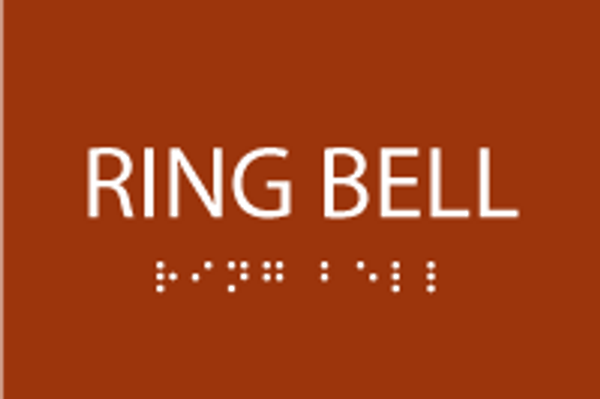 ADA Ring Bell Sign