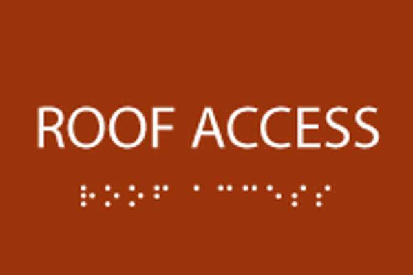 Roof Access ADA Sign