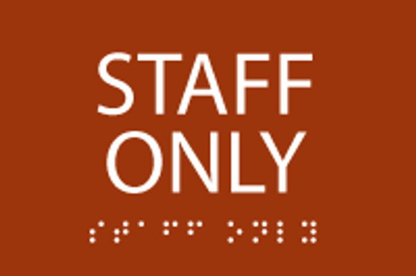 ADA Staff Only Sign