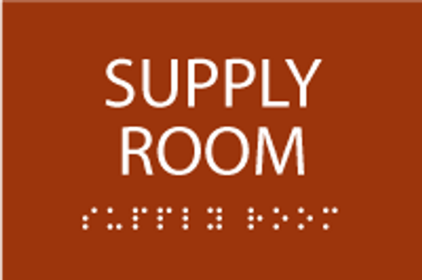 Supply Room ADA Sign