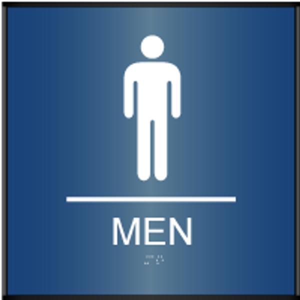 ADA Men's Restroom Sign Curved