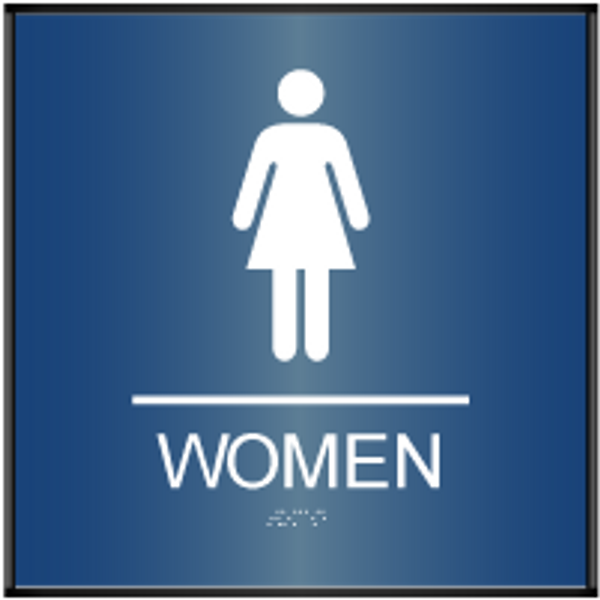 Curved Women's Restroom ADA Sign