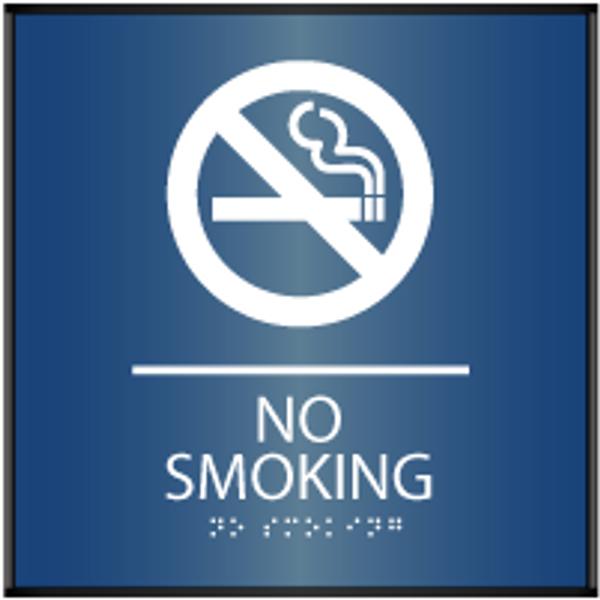 Curved ADA No Smoking Sign