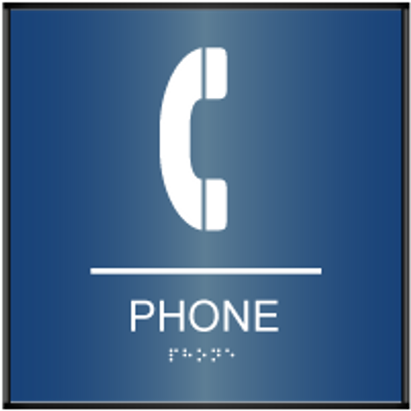 Curved ADA Phone Sign