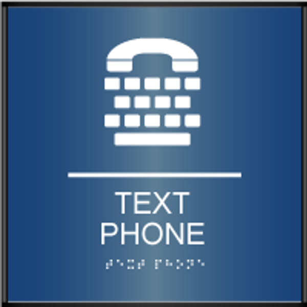 Curved ADA Text Phone Sign