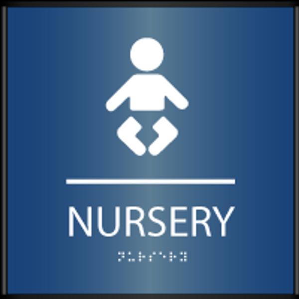 Curved ADA Nursery Sign