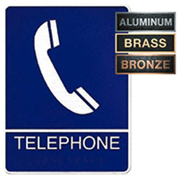 Phone Metal ADA Plaque