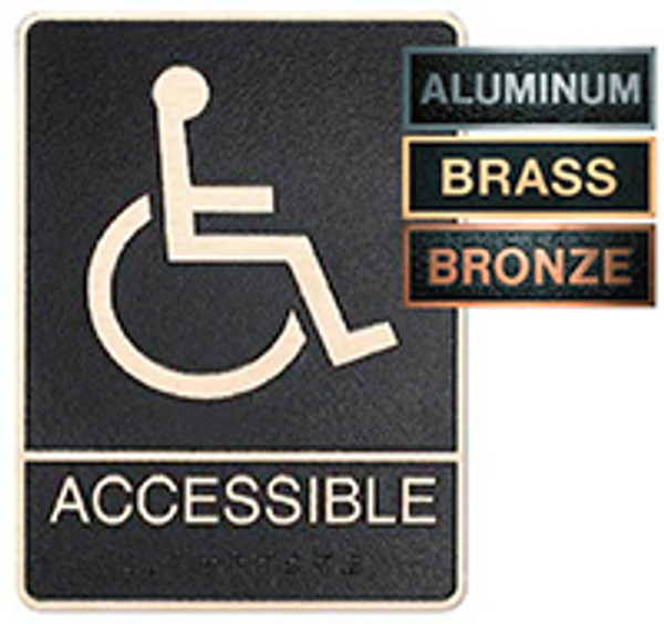 Accessible Metal ADA Plaque