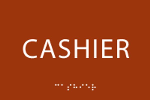 Cashier ADA Sign