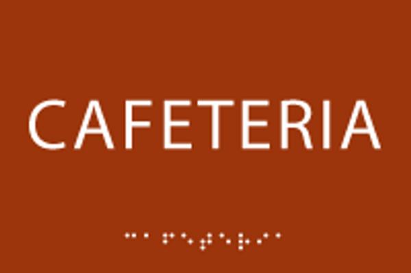 ADA Cafeteria Sign