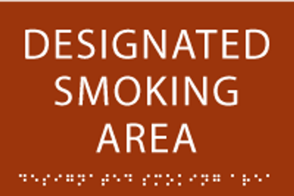 Designated Smoking Area ADA Sign