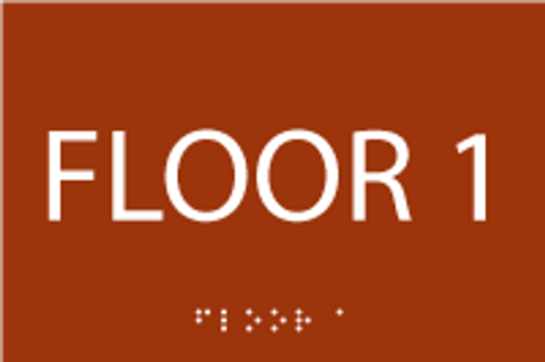 Floor 1 First ADA Sign