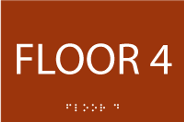 Floor 4 ADA Sign