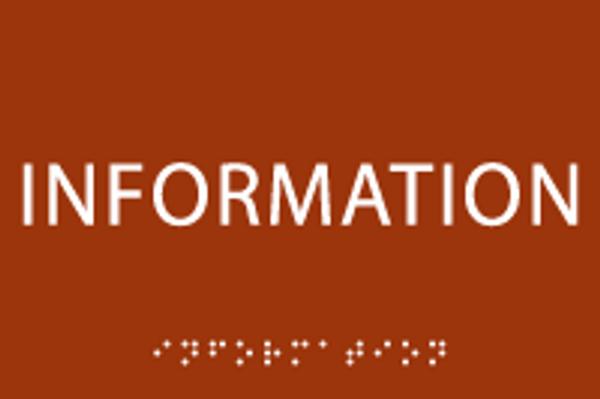 Information ADA Sign