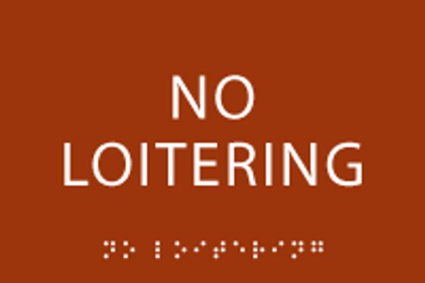 No Loitering ADA Sign