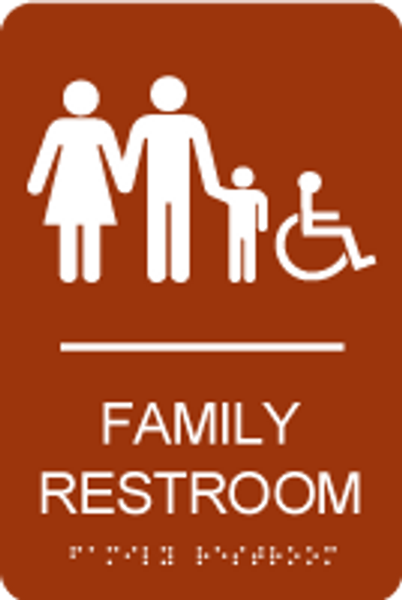 Accessible Family Restroom ADA Sign