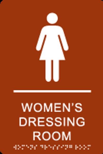 Women's Dressing Room ADA Sign