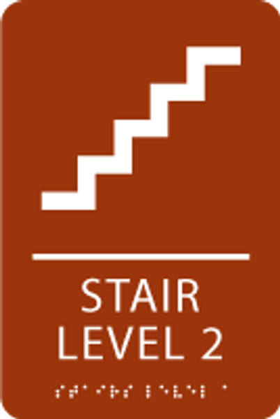 Stair Level 2 ADA Sign
