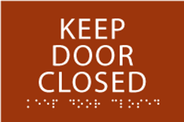 Keep Door Closed ADA Sign