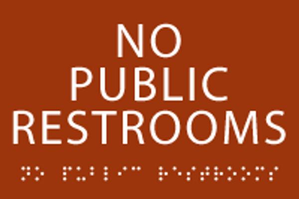 No Public Restrooms ADA Sign
