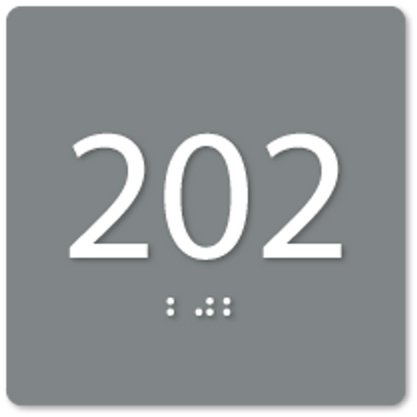 Square ADA Room Number Sign
