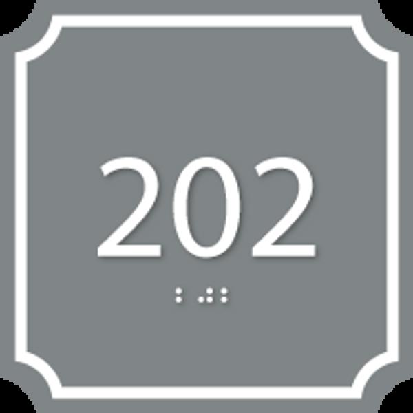 Custom Deco ADA Room Number Sign