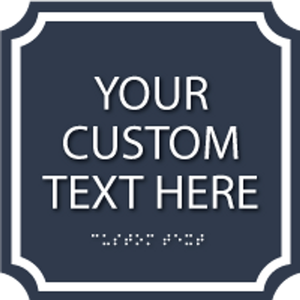 "7"" x 7"" Deco Custom Sign"