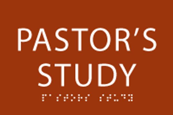 Pastor's Study ADA Sign