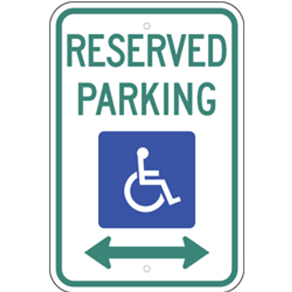 Reserved Handicap Dual Arrow Parking Sign