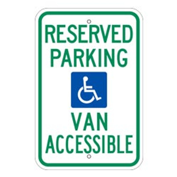 Reserved Parking Van Accessible Handicap Parking Sign