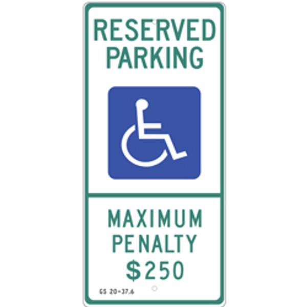 North Carolina Handicap Parking Sign