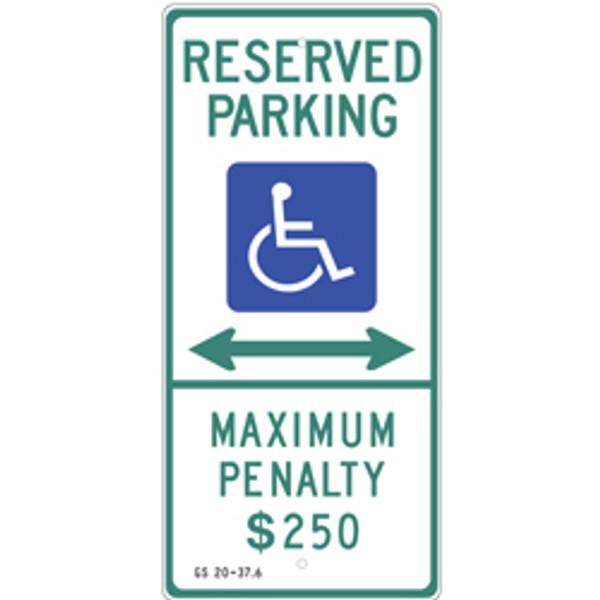 North Carolina Handicap Parking Dual Arrow Sign